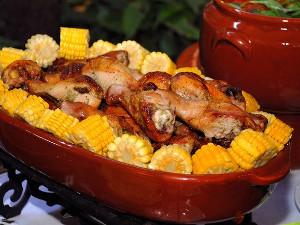 csirke kukoricával- szakács képzés