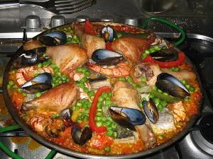 kagylós tál a szakács tanfolyamon