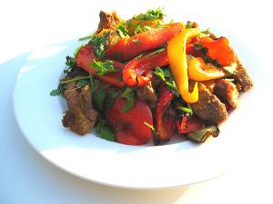 a szakács tanfolyamon készült étel
